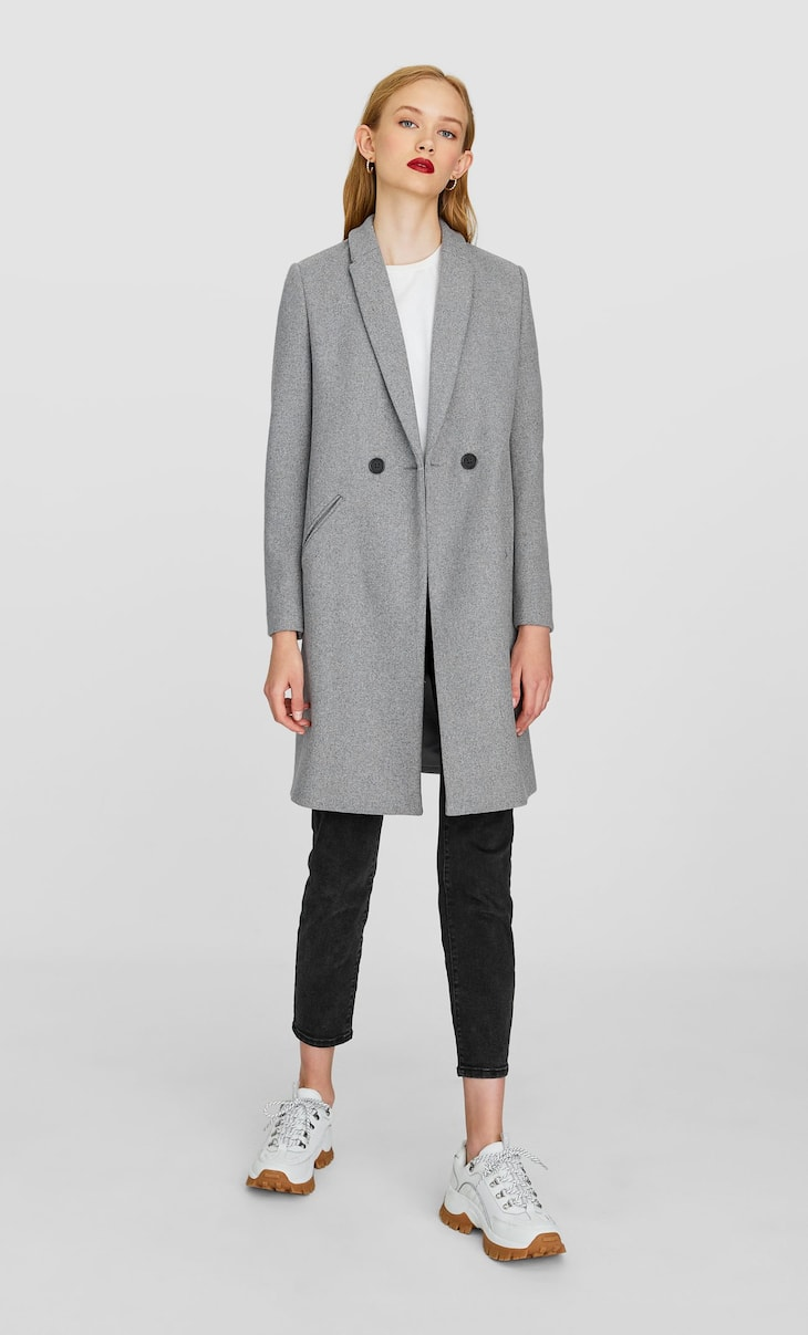 Manteau laine basic.
