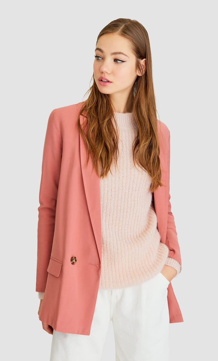 Loose-fitting double breasted blazer