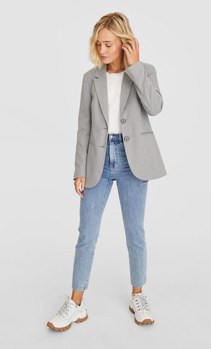 Simple button-up blazer