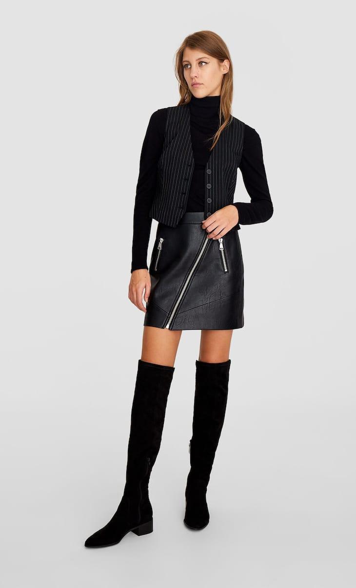 Short striped waistcoat