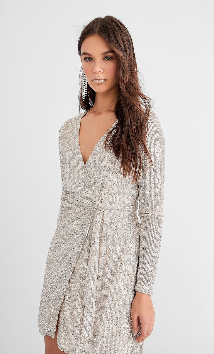 Robe portefeuille sequins