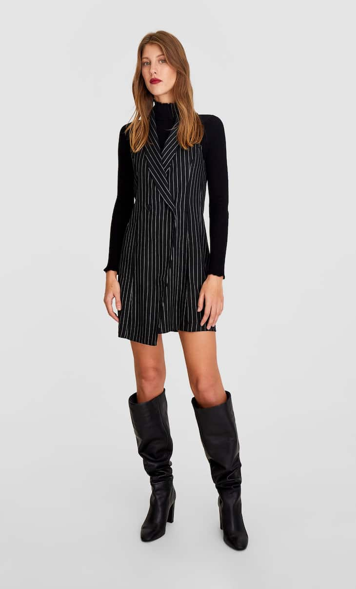 Striped blazer-style dress