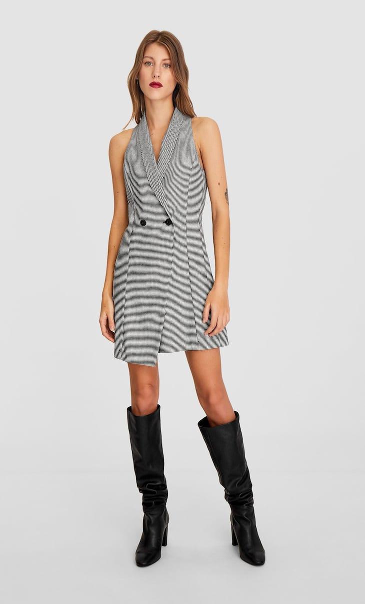 Платье-блейзер в полоску