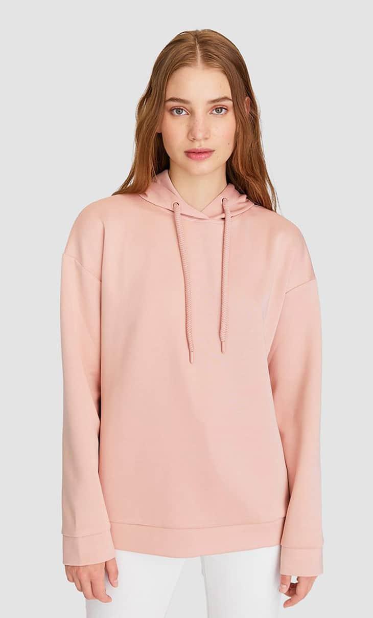 Kapüşonlu basic sweatshirt