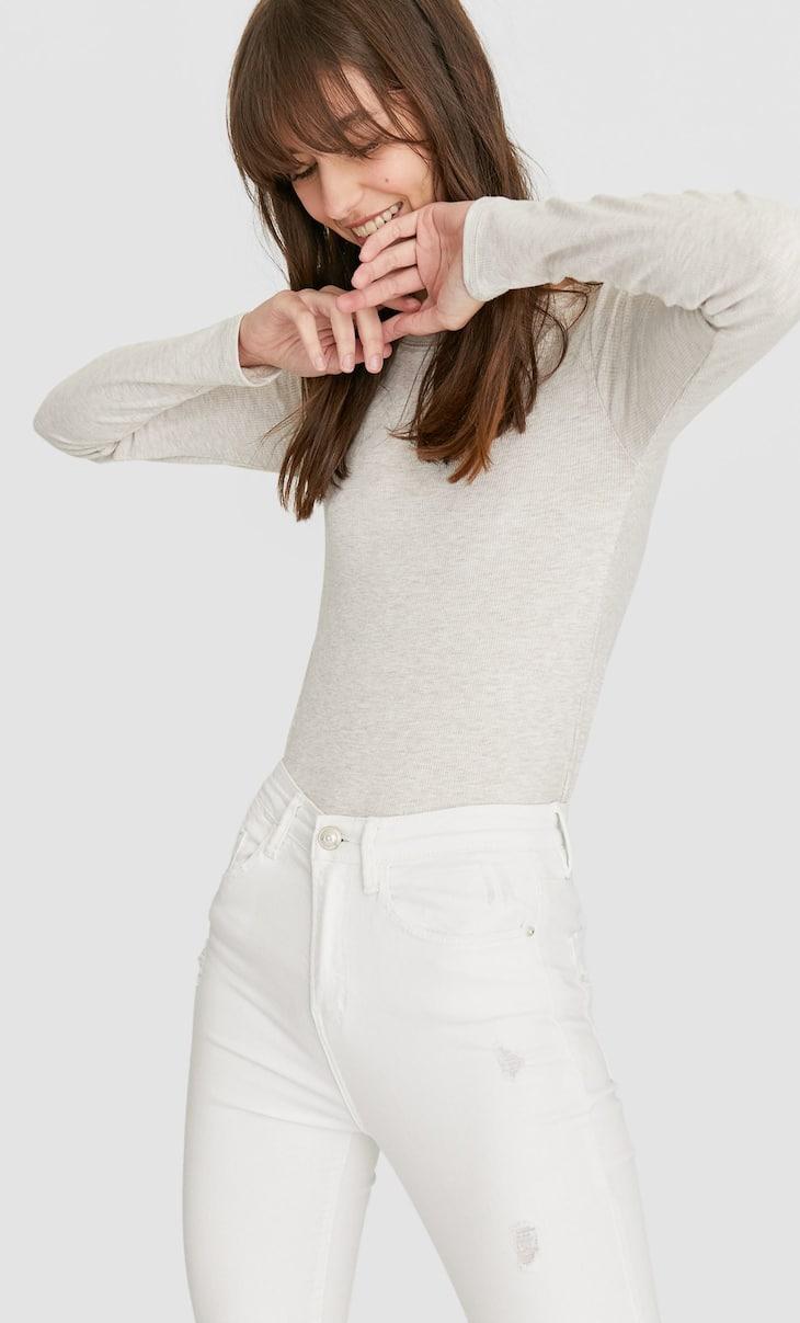 Camiseta rib manga larga