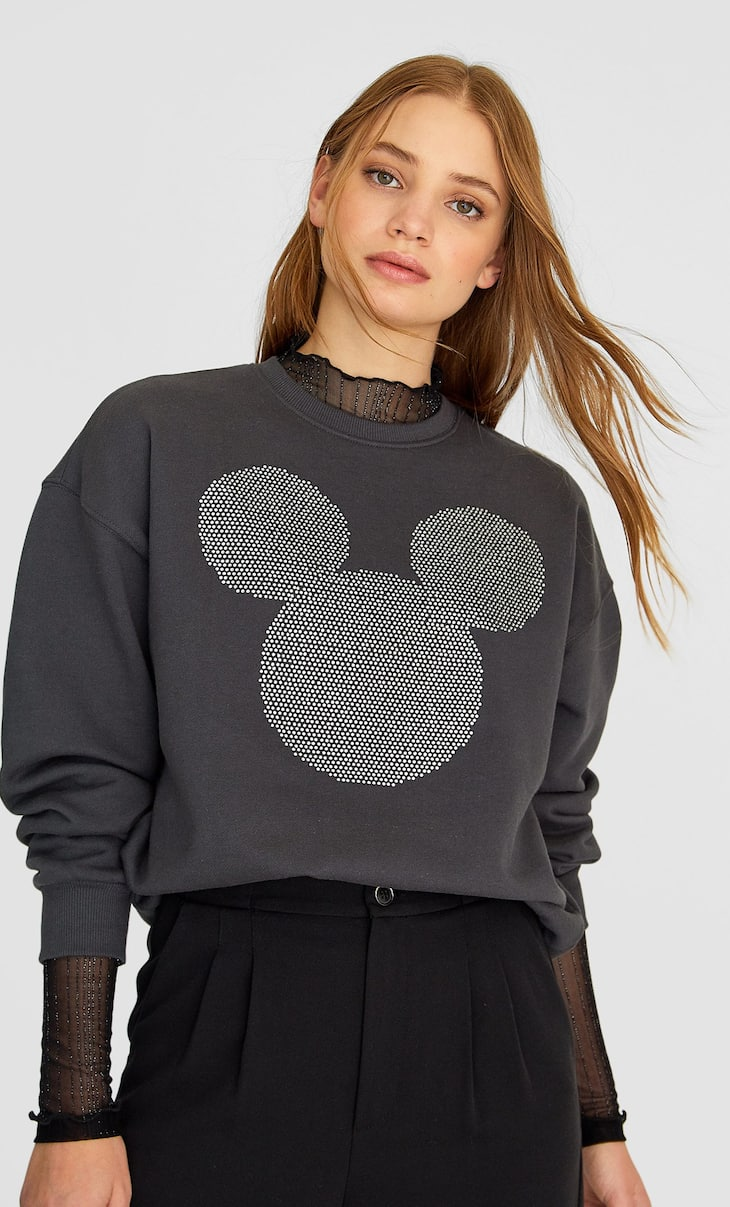 Appliquéd Mickey sweatshirt