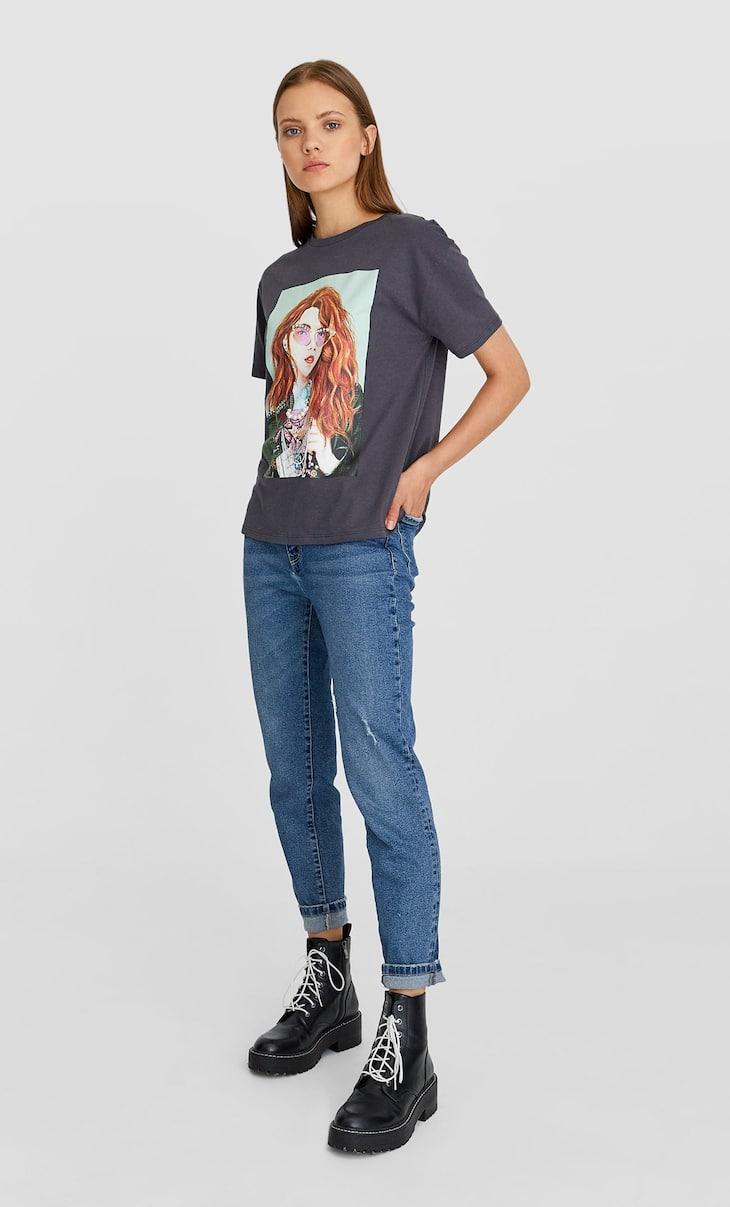 Gem print T-shirt