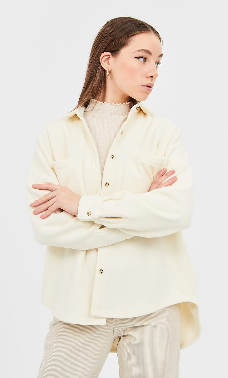 Fleece overshirt