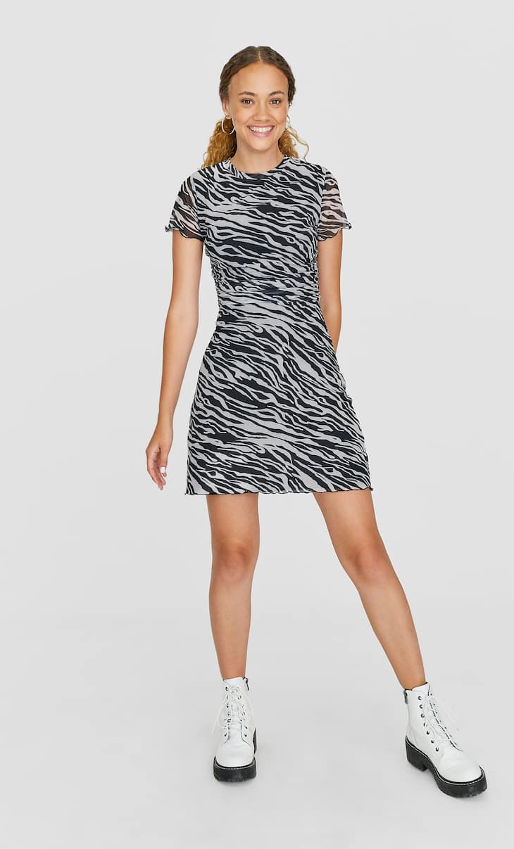Zebra tulle dress