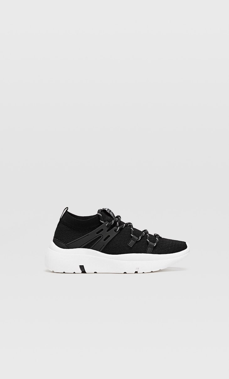 Sneakers in tessuto nero
