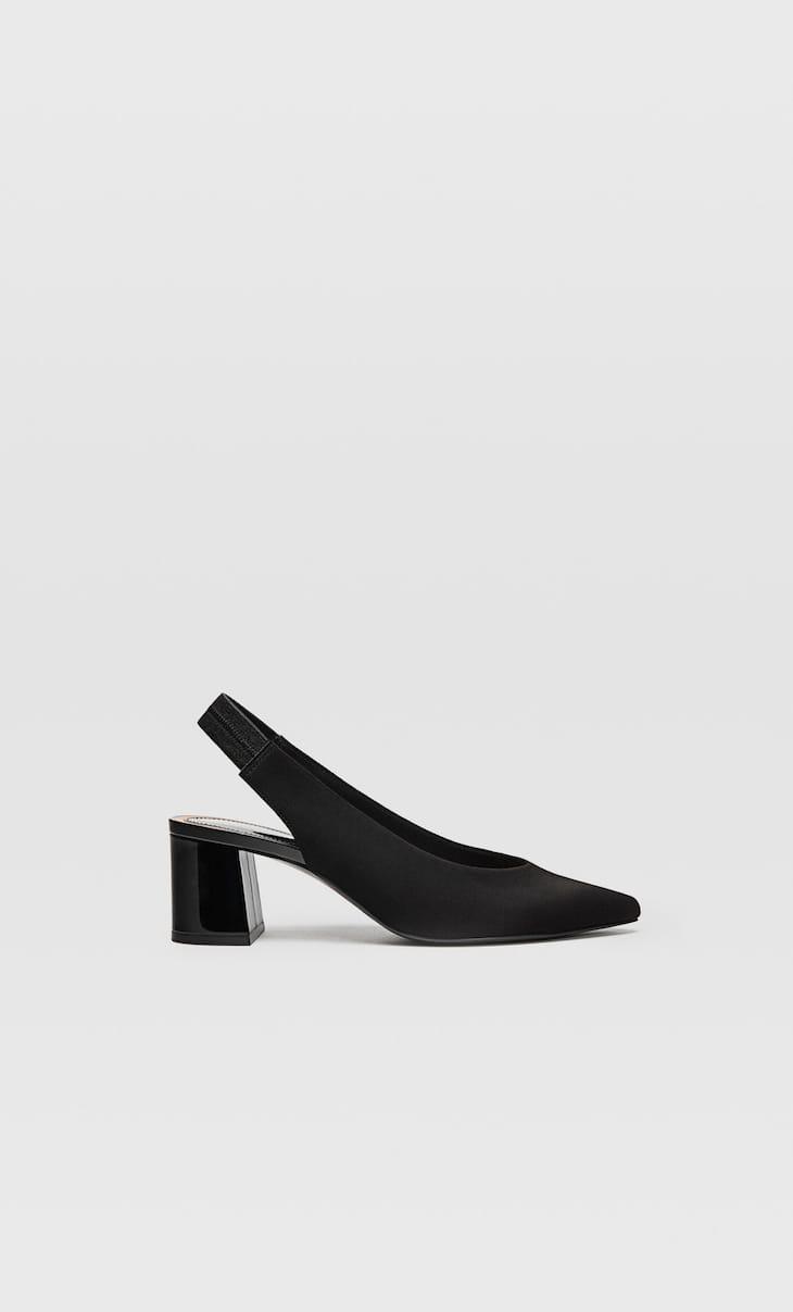 Chaussures ouvertes à l'arrière noires
