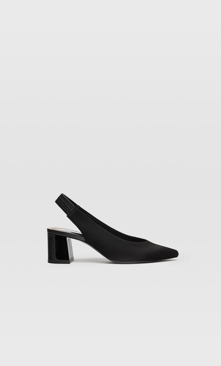 Sapatos tipo mules pretos