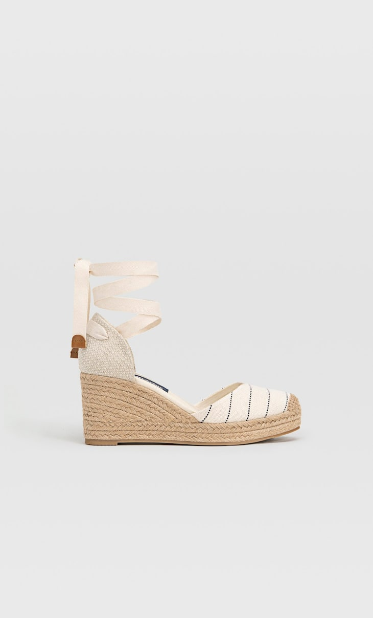 JOIN LIFE - Jute wedge espadrilles