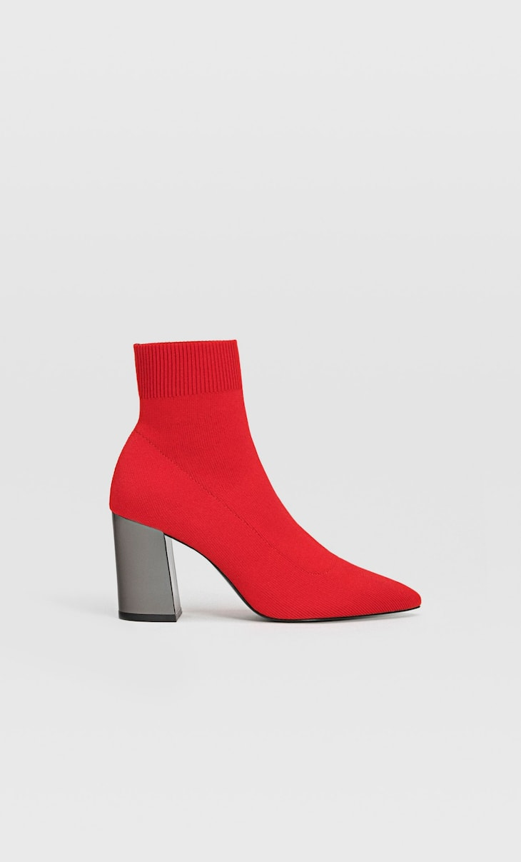 Bottines chaussette talon rouges