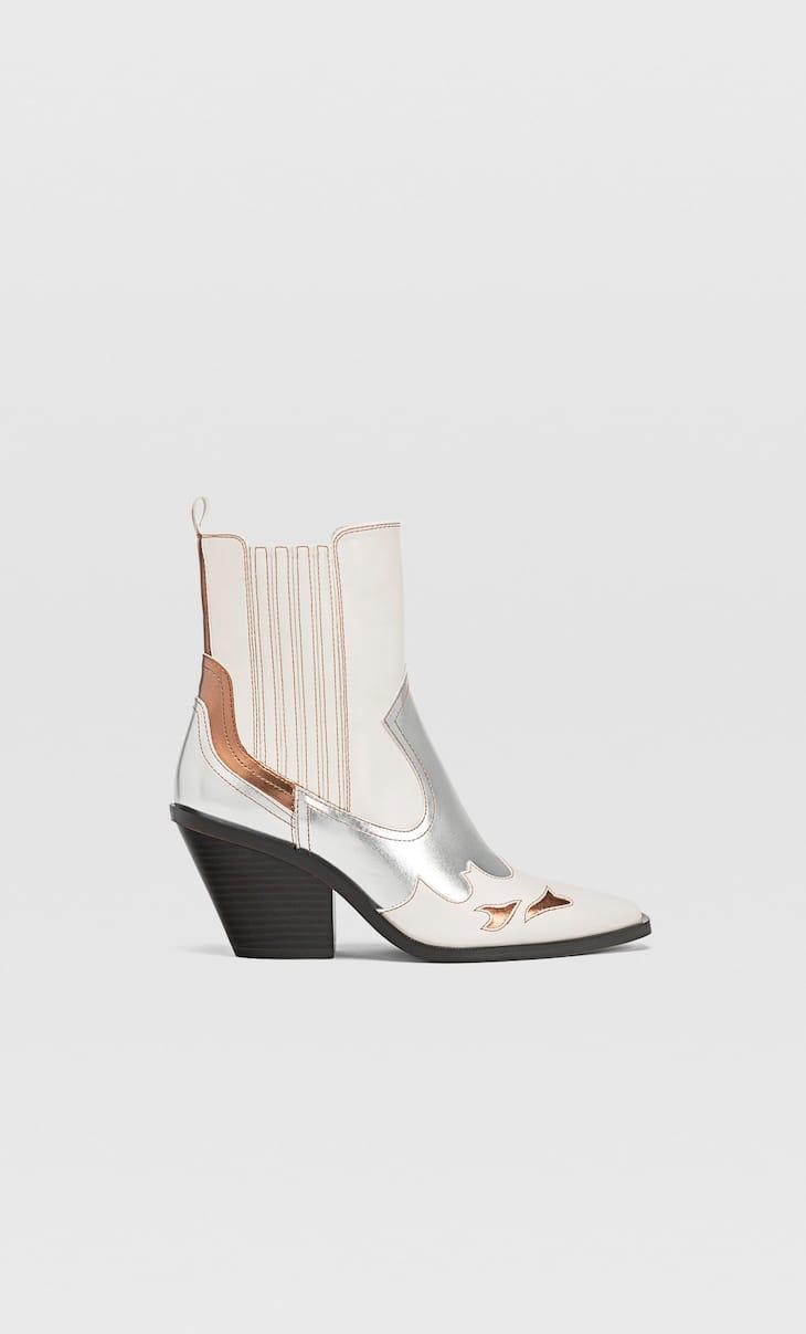Contrast cowboy boots