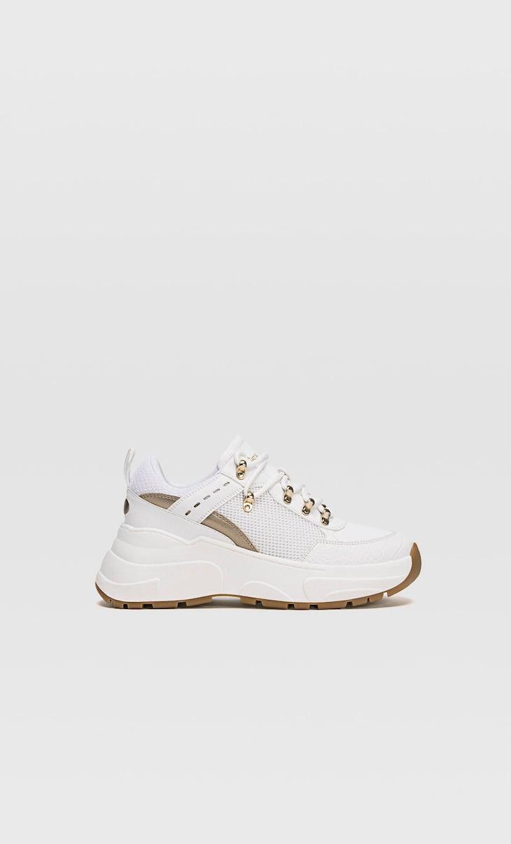 Zapatillas maxi suela detalles dorados