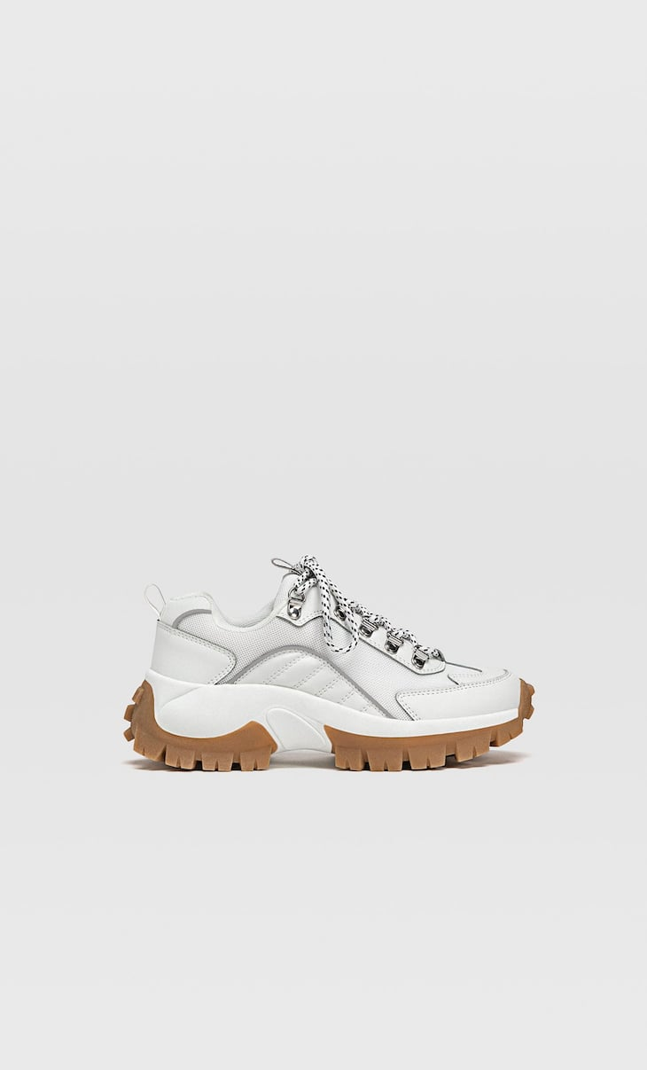 Chunky track sole trainers