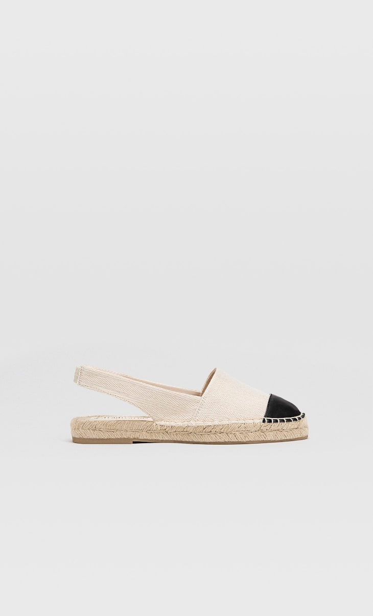 Slingback espadrilles with contrasting toe