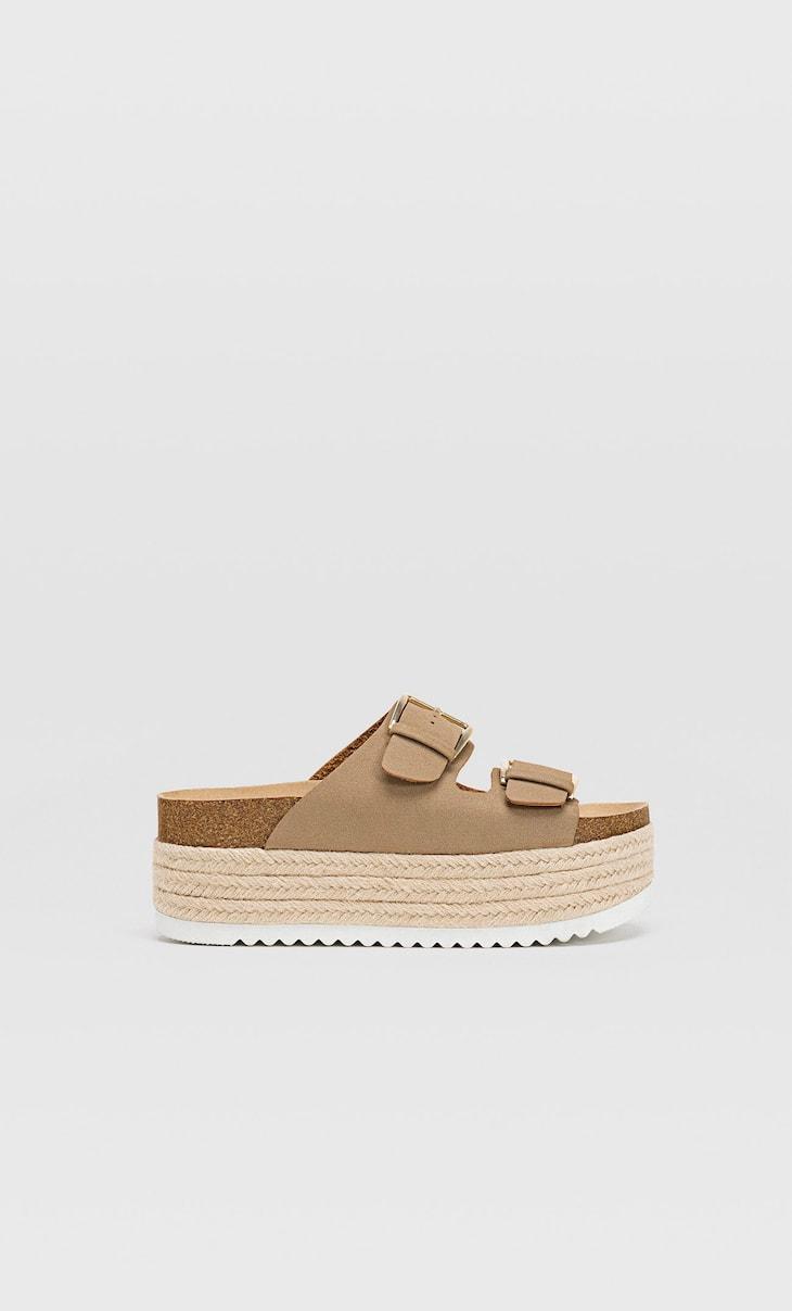 Flatform bio sandals