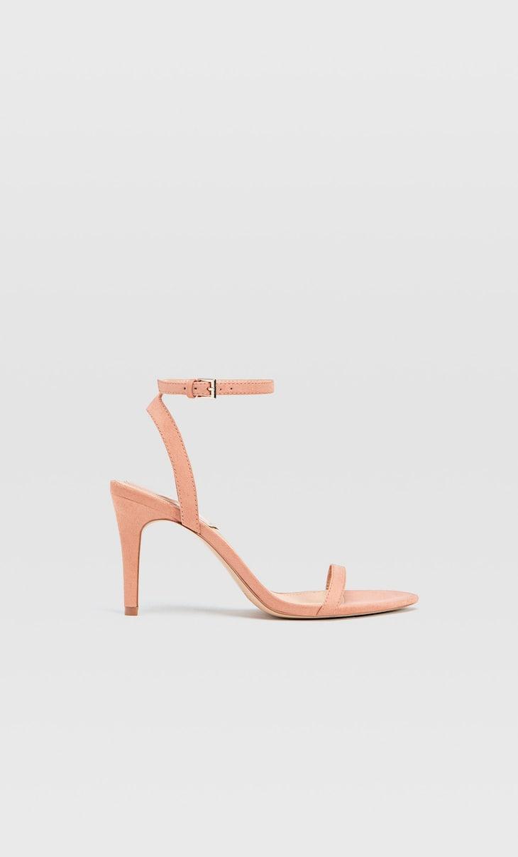 Sandali rosa con tacco sottile