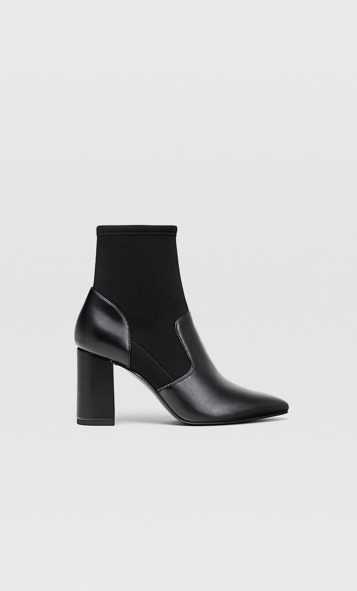 Boots with contrast stretch legs
