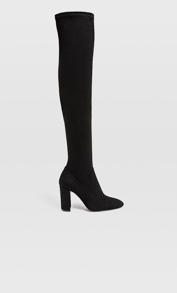Over-the-knee block heel boots