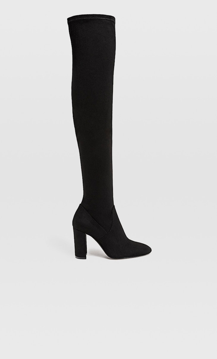 Over-the-knee block heel boots