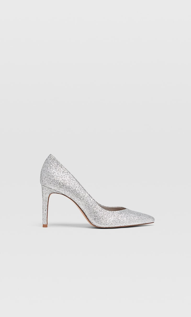 Schoen met glitterhak