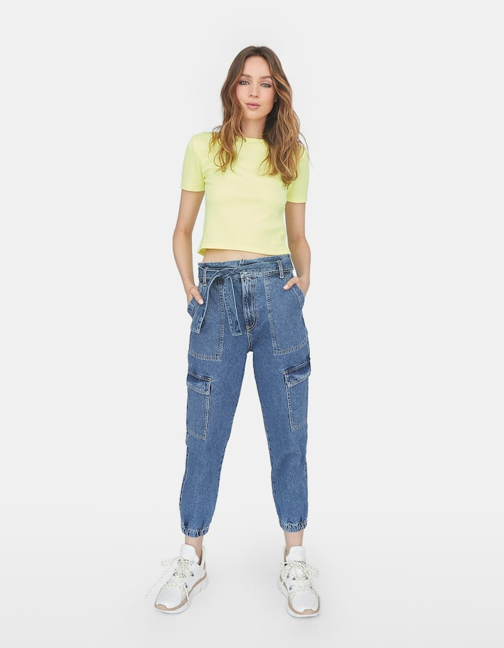 Neon cropped T-shirt