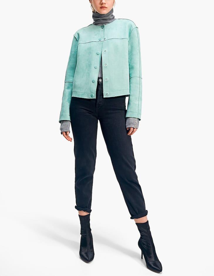 Round neck bonded jacket