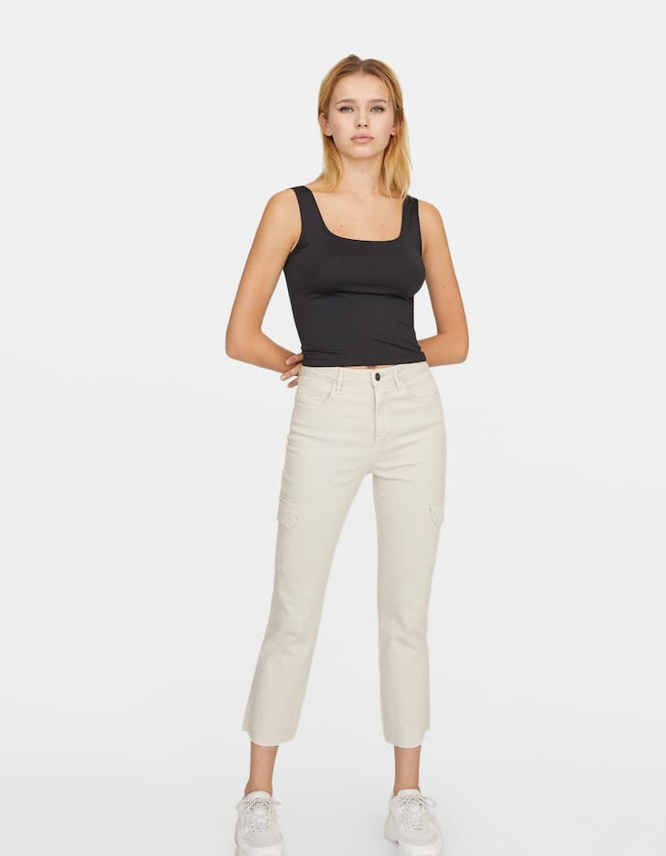 Straight-fit cargo trousers