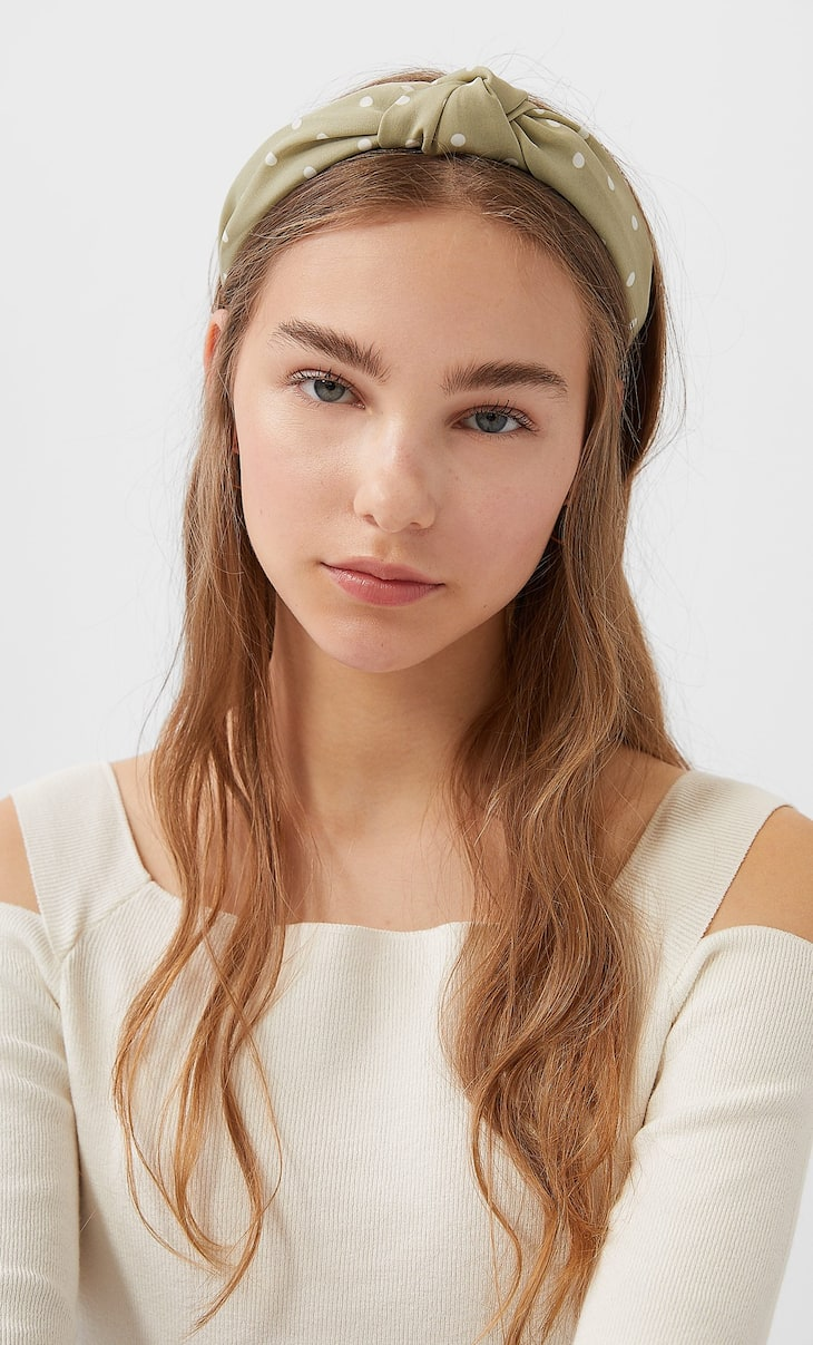 Polka dot rigid headband