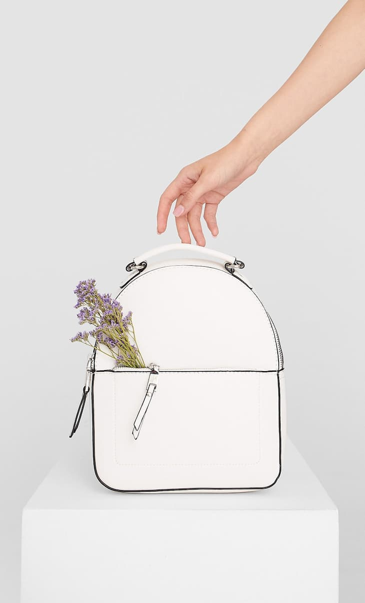 Backpack with pull tabs