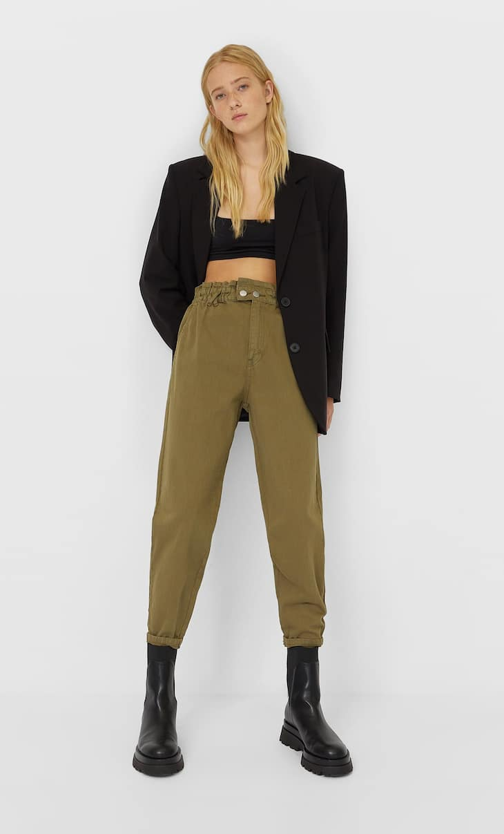 Jeans baggy en sergé