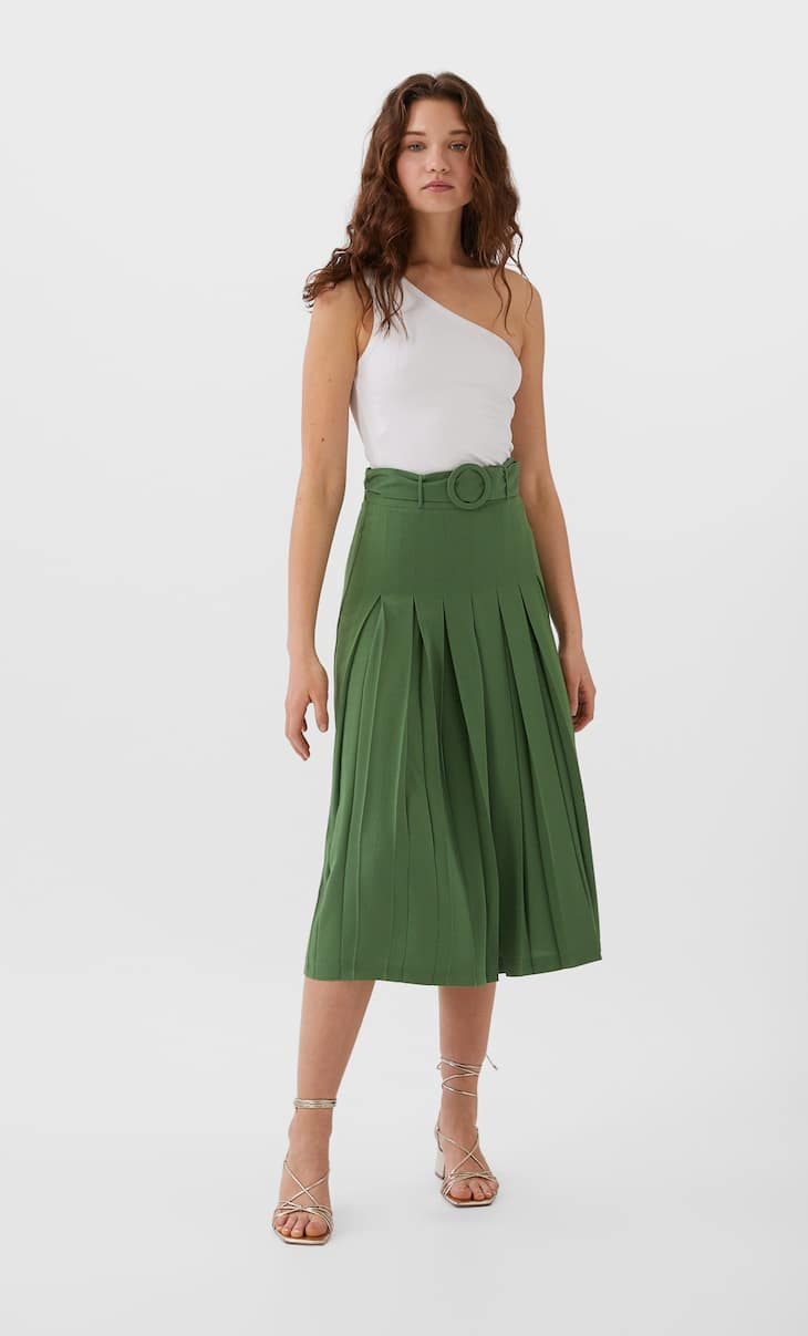 Box pleat culottes