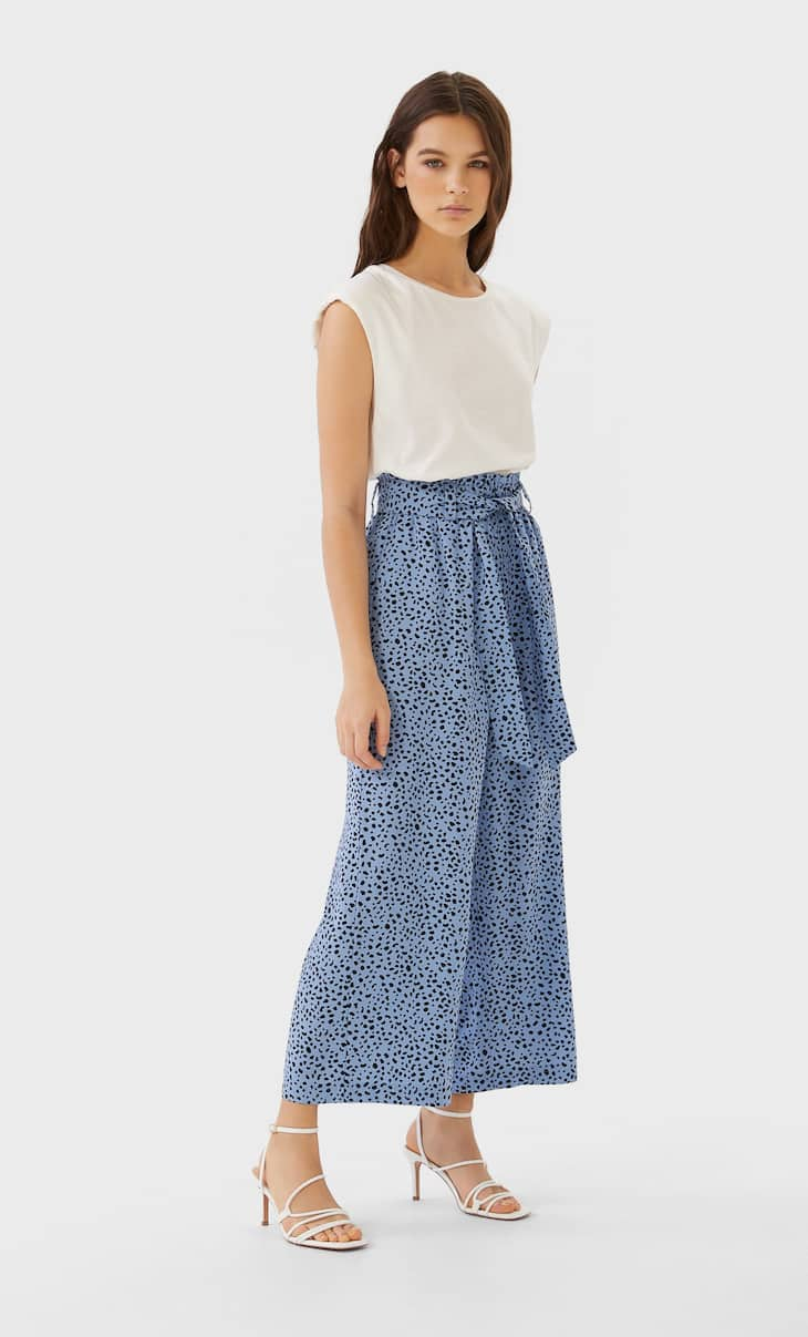 Culotte fluid estampat