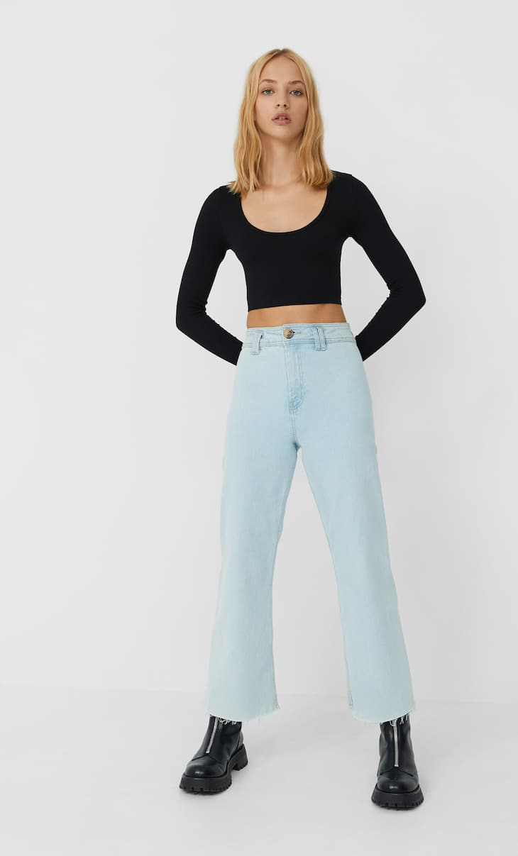 Jeans cropped seamless