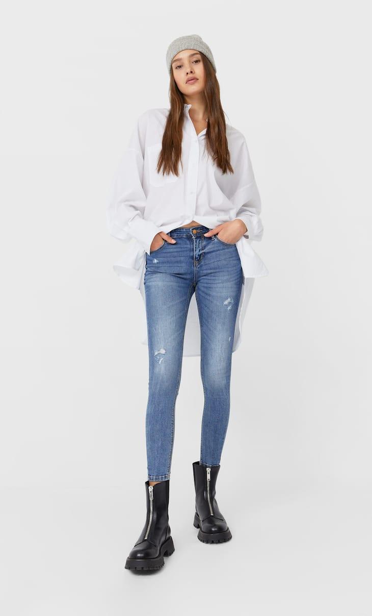 Düşük bel slimfit jeans