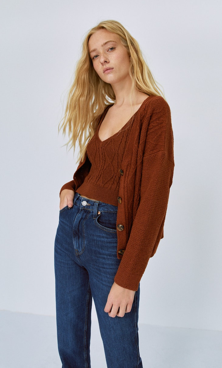 Cable-knit top