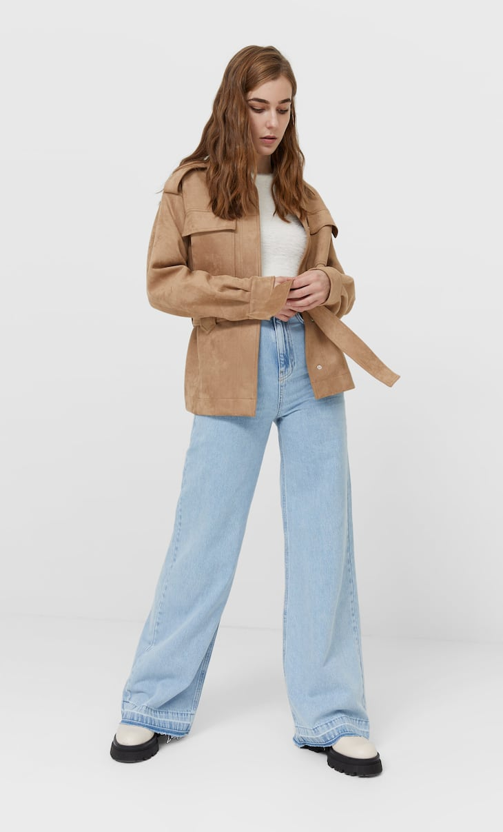 Belted overshirt