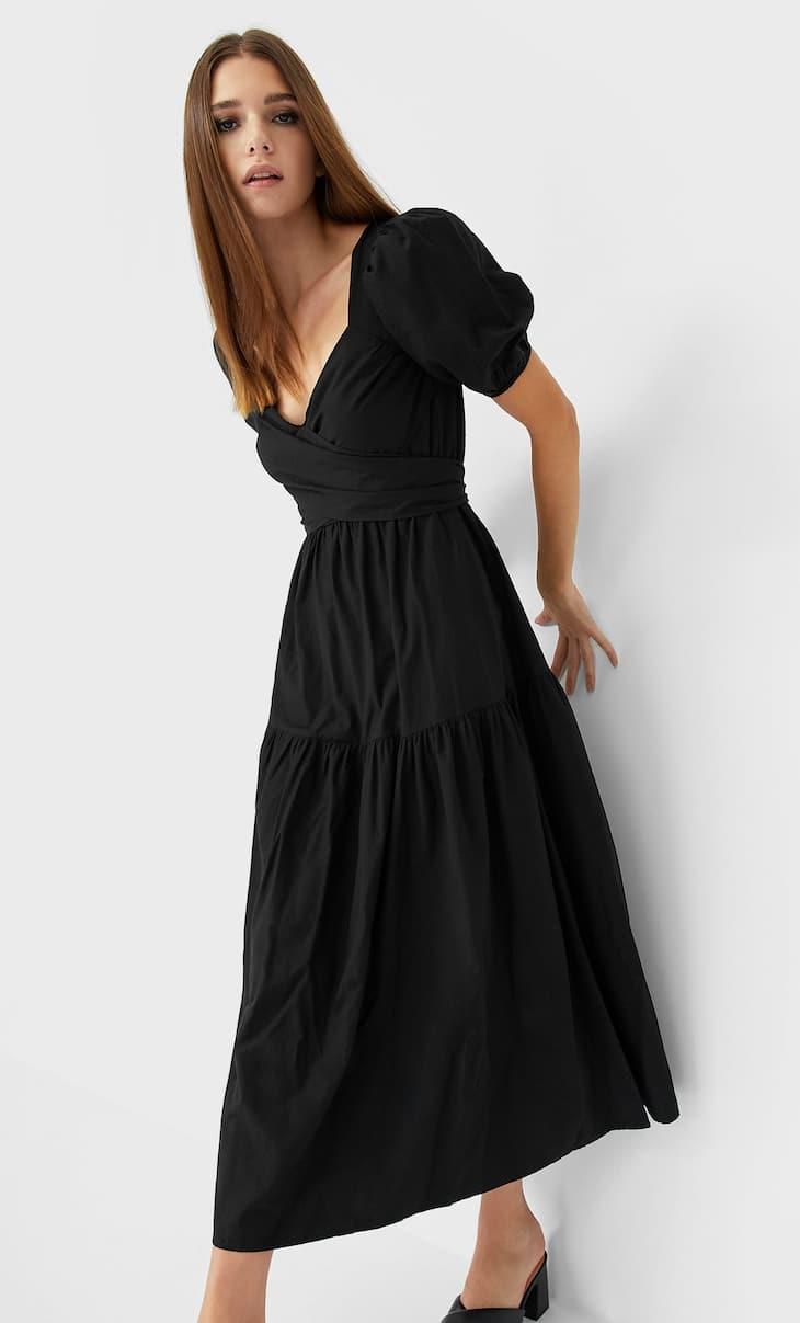 Rochie lungă din poplin