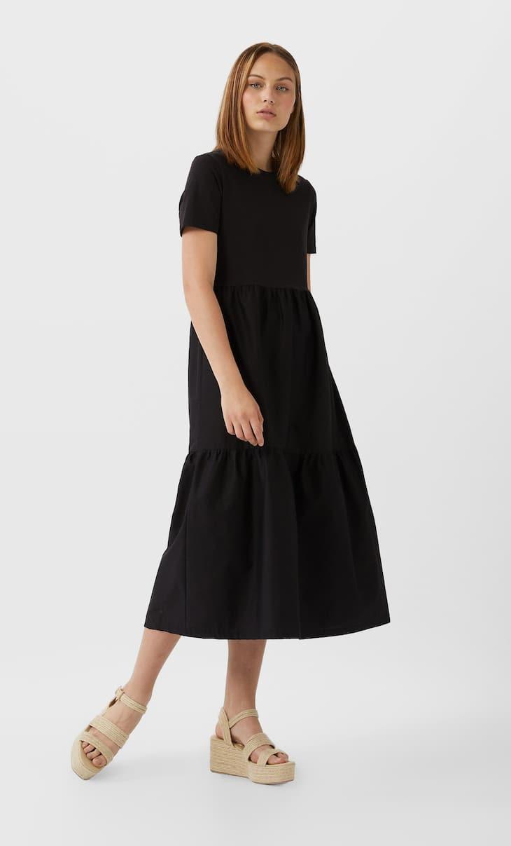 فستان من مادتين