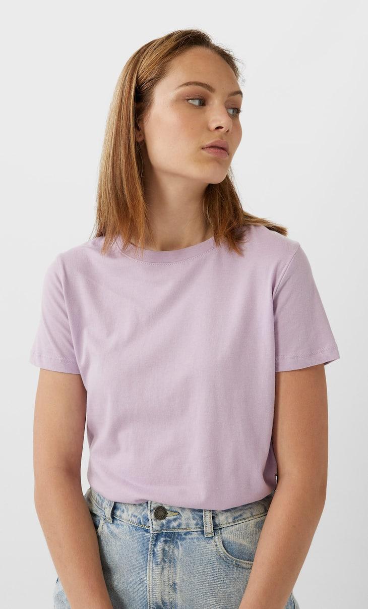 Maglietta basic in cotone a maniche corte
