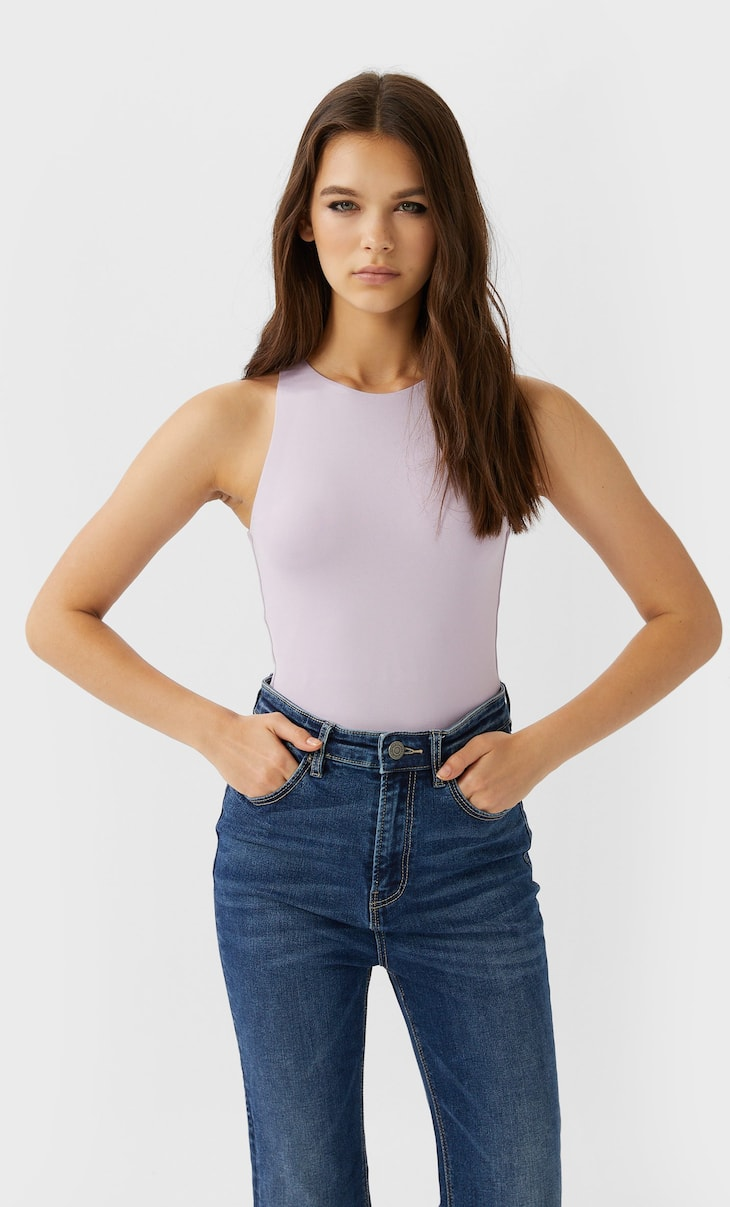 Halter-neck bodysuit