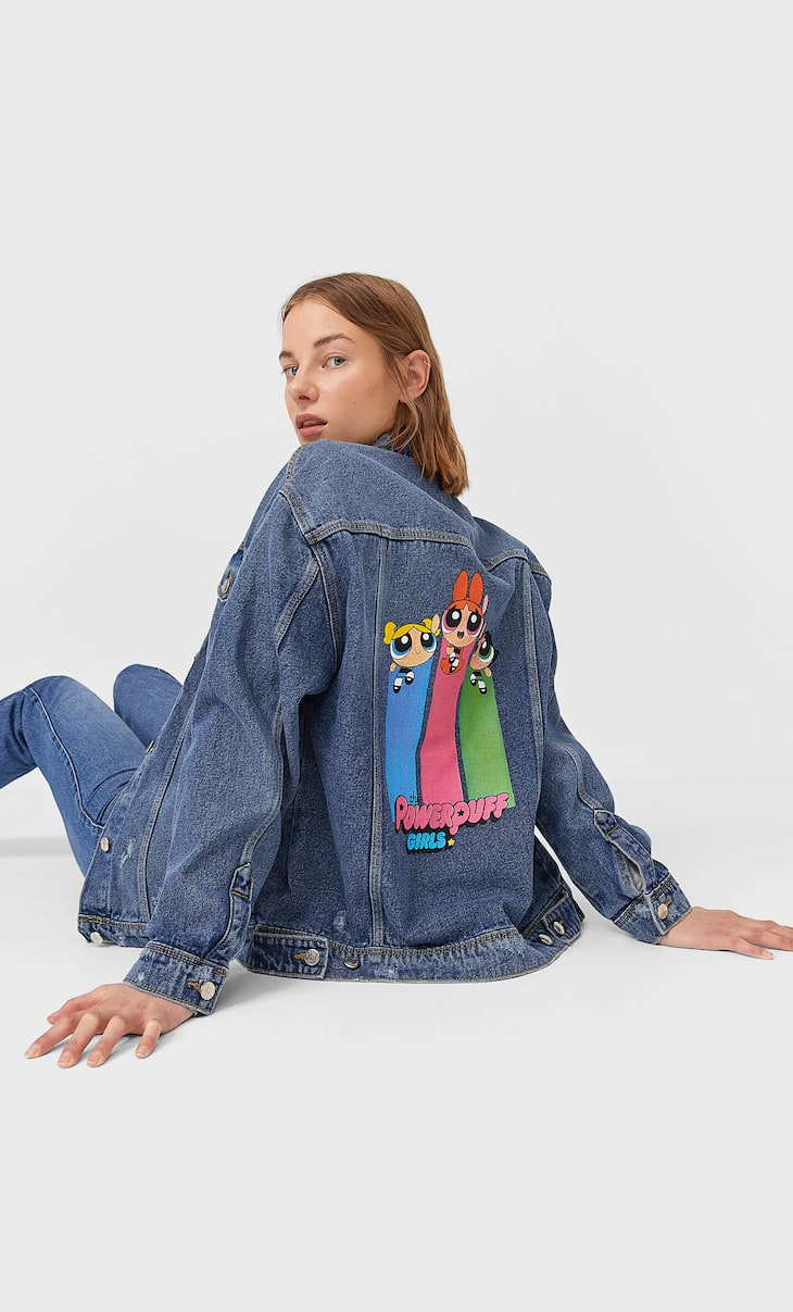 Oversize-Jeansjacke Powerpuff Girls