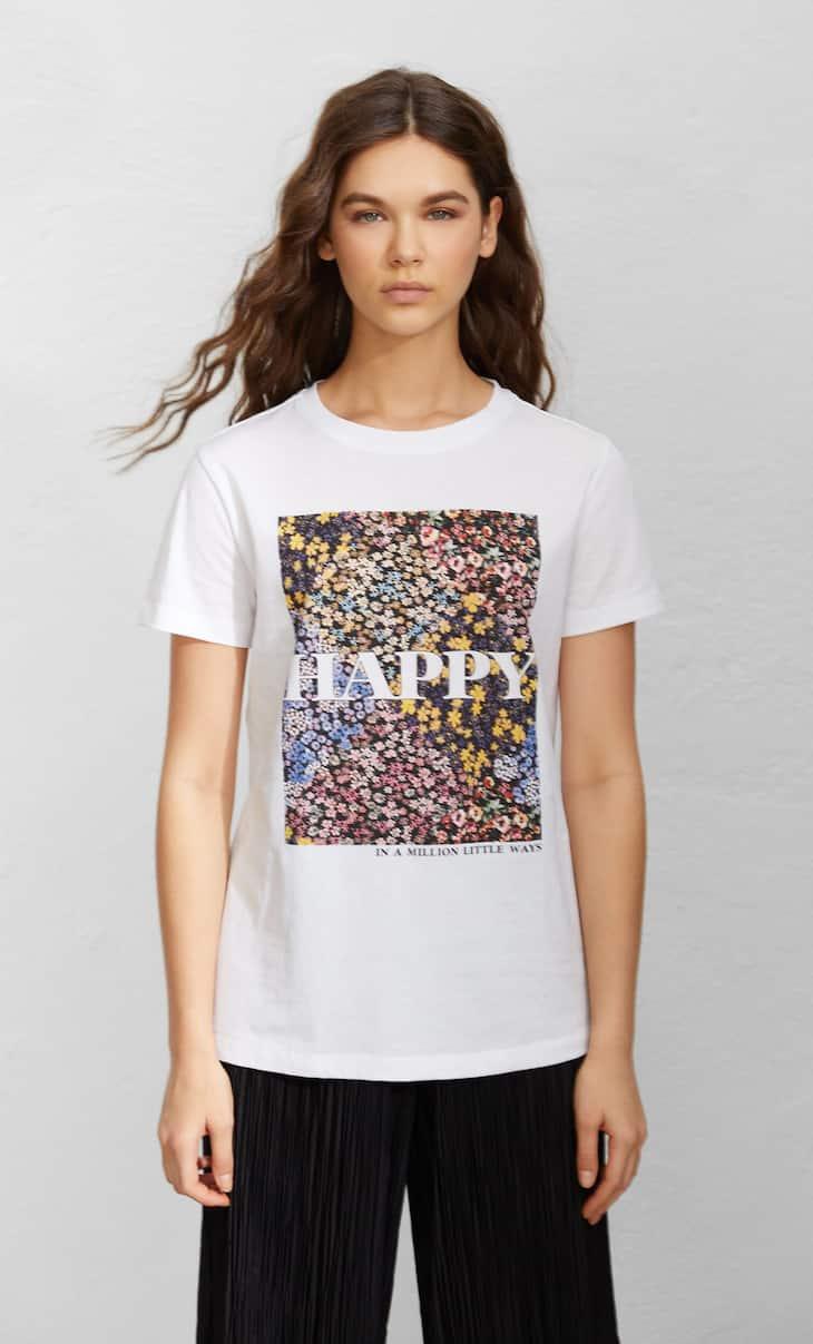 Camiseta manga corta print