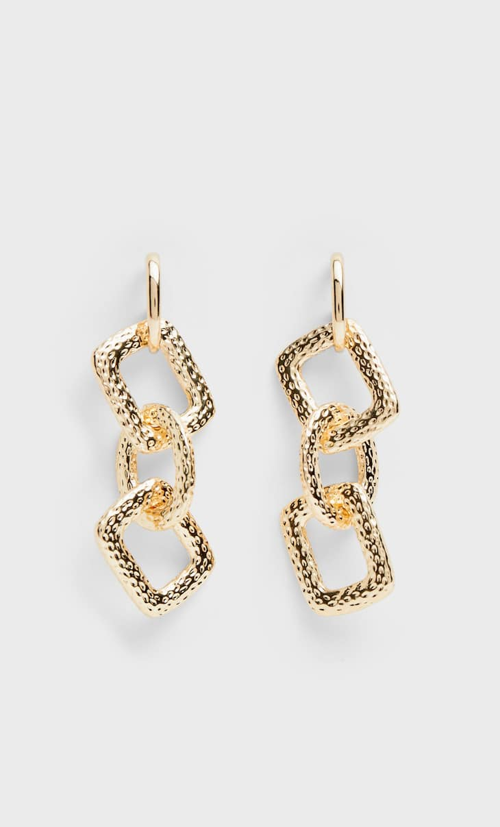 Chain bit earrings