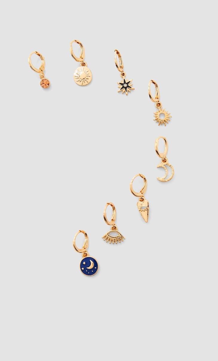 Set of 8 earrings