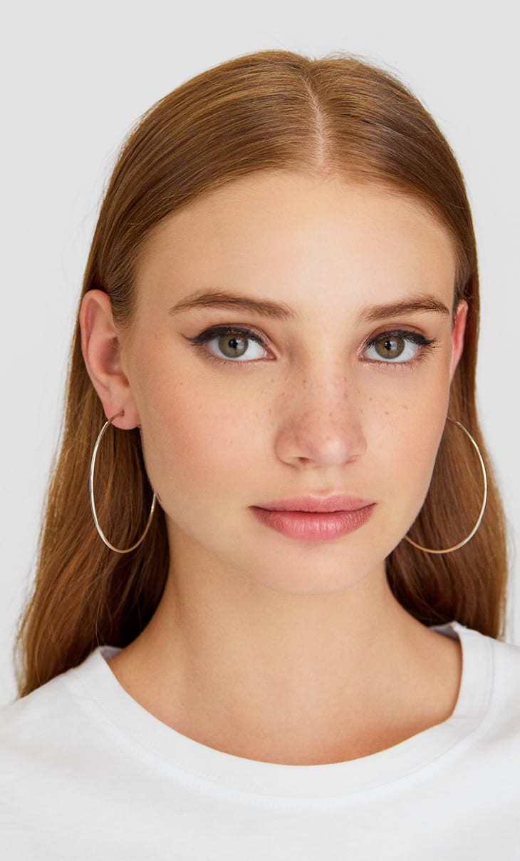 STR set of 4 pairs of large hoop earrings