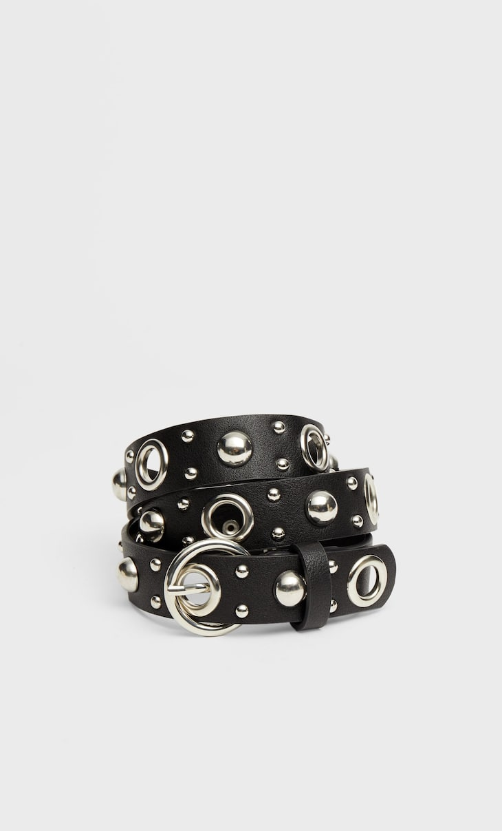 Belt with large studs